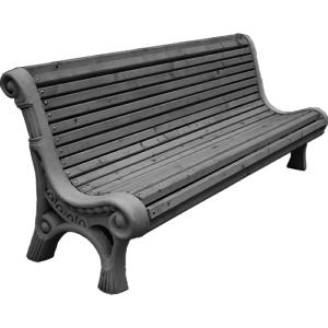 уличная бетонная скамейка